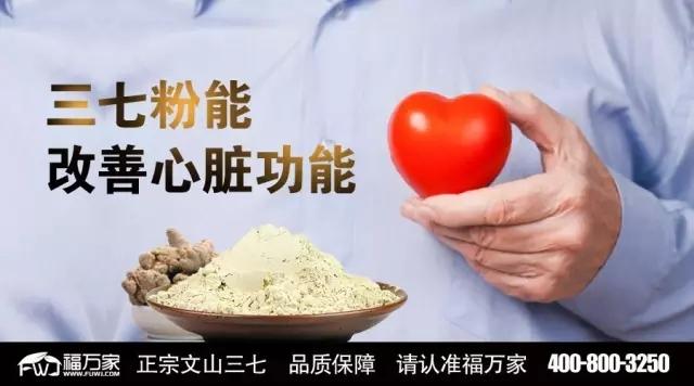 养生精华:三七粉能改善心脏功能