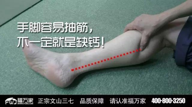 三七知识:手脚容易抽筋,不一定